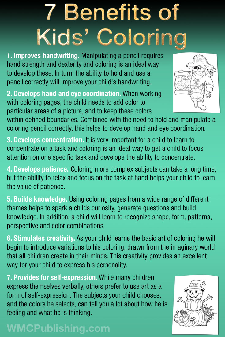 7 Benefits of Kids' Coloring