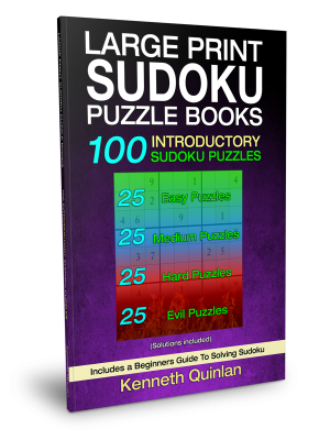 Large Print SUDOKU Puzzle Book 3 – 100 Hard Puzzles – WMC Publishing