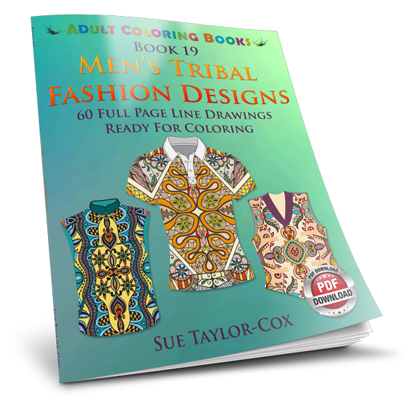 Men S Tribal Fashion Designs 60 Full Page Line Drawings Ready For Coloring Pdf Wmc Publishing