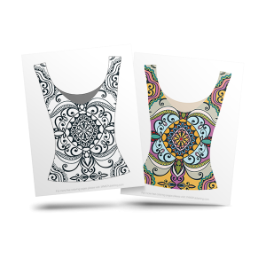 free fashion adult coloring page