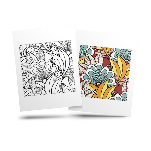 free flower adult coloring page