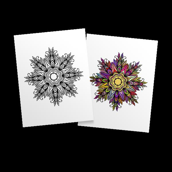 Mandalas - free adult coloring page