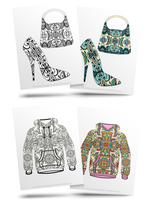 Free Fashion Adult Coloring Pages