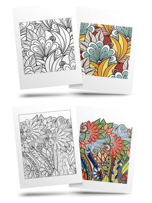 Free Flower Adult Coloring Pages