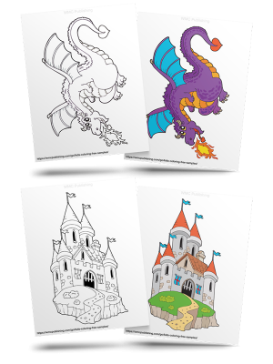 Free Dragonland Kids' Coloring Pages