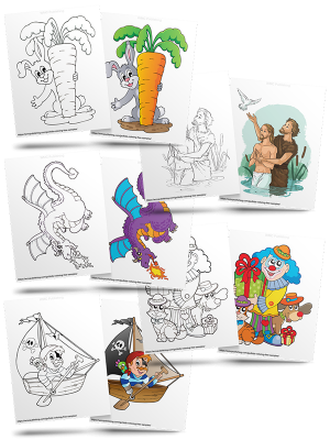 Kids' Coloring (Free Page Downloads)