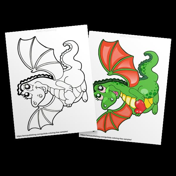 Kids Coloring Free Dragon Land Coloring Sample 6 Wmc Publishing