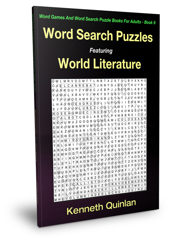 Word Search Puzzles Featuring World Literature WMC Publishing