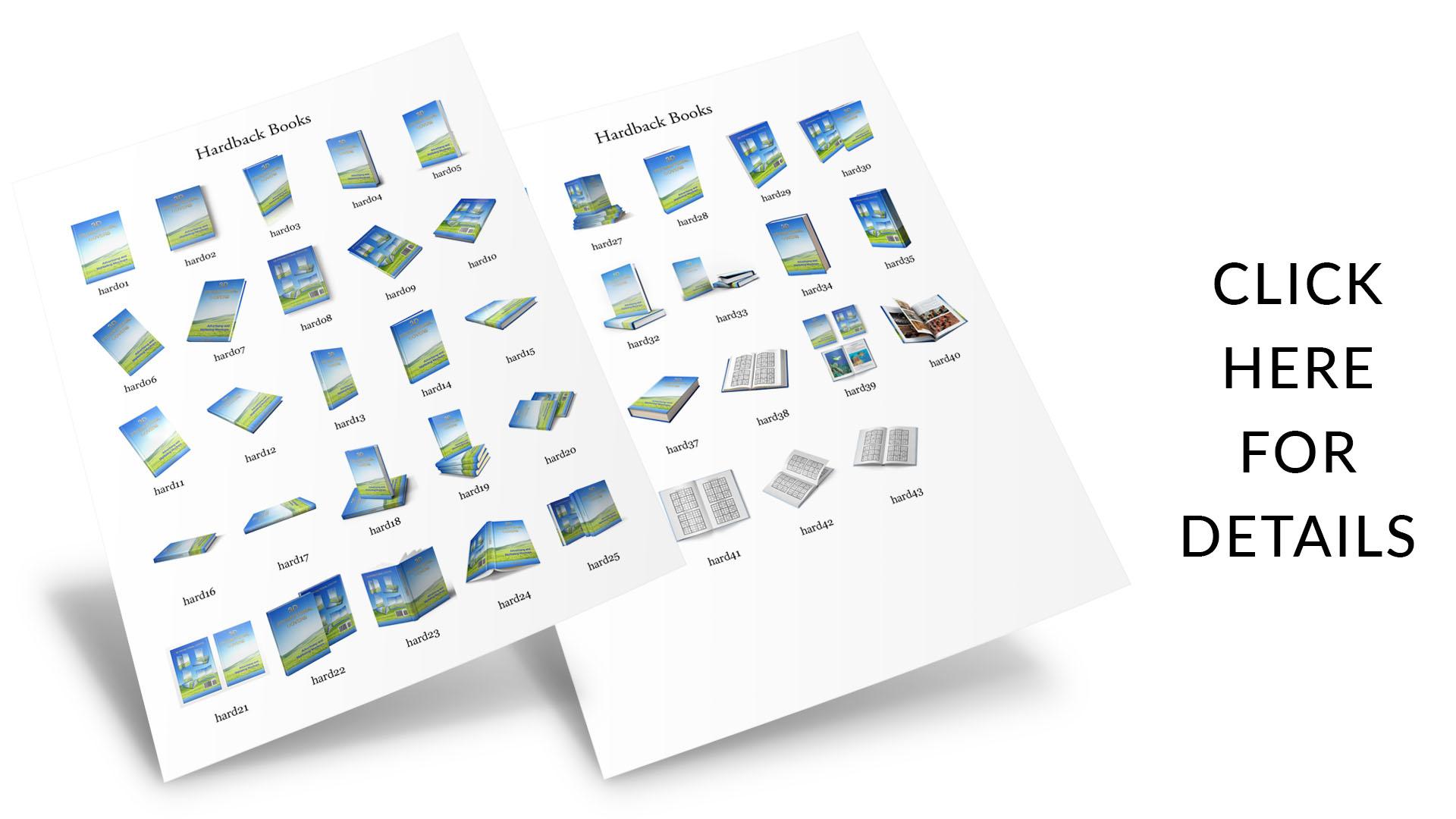 3D Paperback Book Mockups